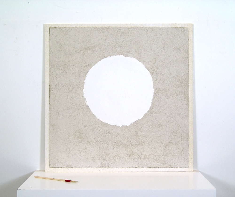 White Circle - true (buon) fresco 36X36 on plaster board, by iLia Fresco (Anossov) 2010