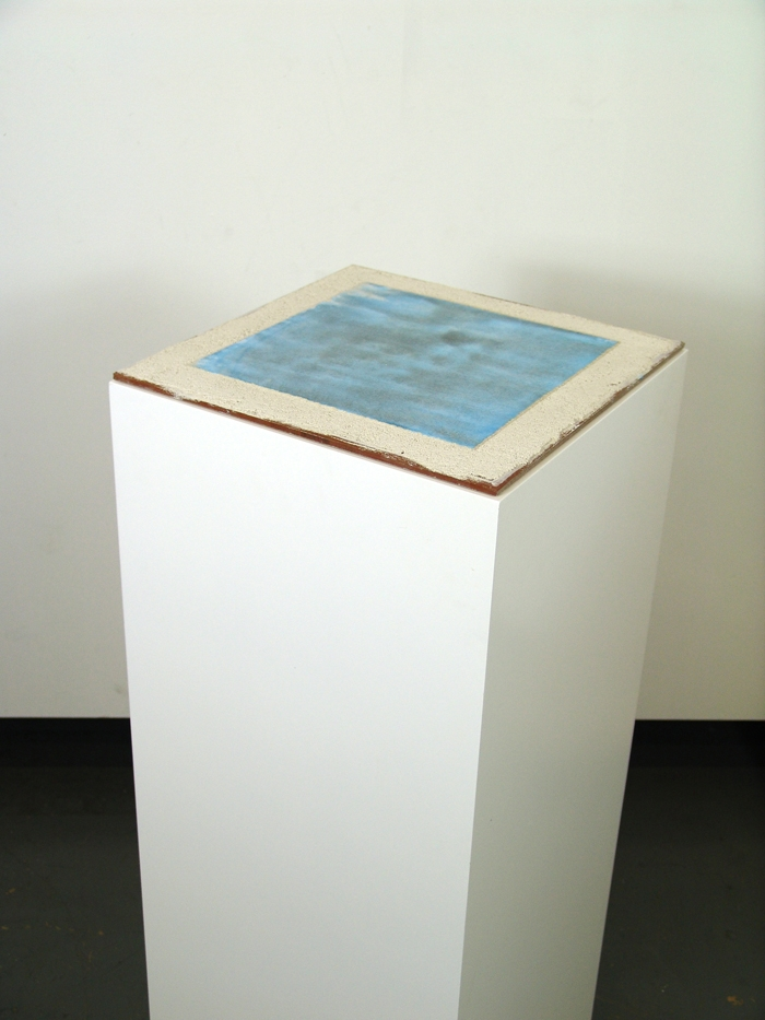 Flat Cerulean 2, true (buon) fresco, sculpture by iLia Fresco (Anossov) 2010