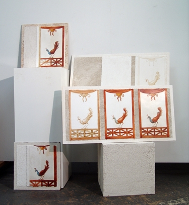 Didactic Fresco Panels for the Getty Institute by iLia Fresco (Anossov)
