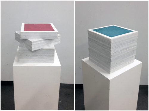 Fresco Stacks, Mayan Red and Mayan Blue by iLia Fresco (Anossov)