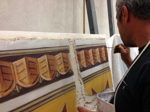 Finishing first layer of intonaco, by ilia Fresco,