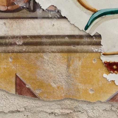Multi Layer Fresco 003 (fragment) - Buon Fresco - 16X16 on ceramic tile, renaissance collection, by iLia Fresco 2013