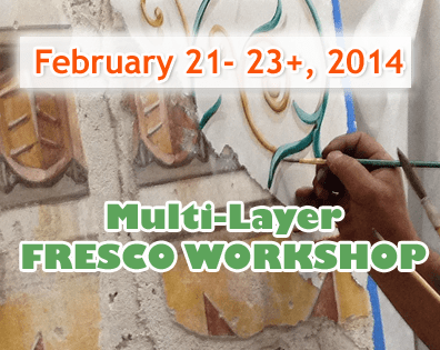 Roman and Renaissance multi-layer fresco workshop on February 21-22-23