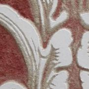 Red Sgraffito Fresco 001 (detail) – Buon Fresco – 16X16 on ceramic tile, renaissance collection, by iLia Fresco 2013