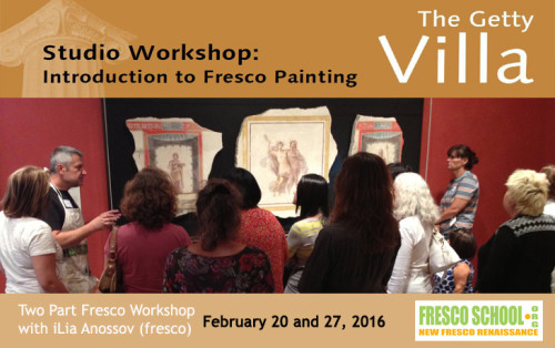 fresco workshop at the Getty Villa with iLia Anossov