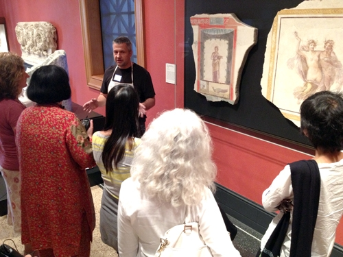 Getty Villa - Introduction to Fresco Painting - fresco workshop with iLia Anossov (fresco) - fresco gallery visit
