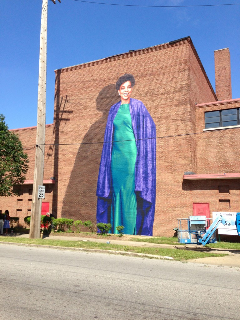 Ruby Dee Mural by Kent Twitchell on Karamu House Theater Complete