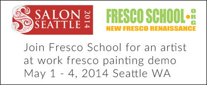 SalonSeattle 2014 fresco painting live demo by iLia Fresco